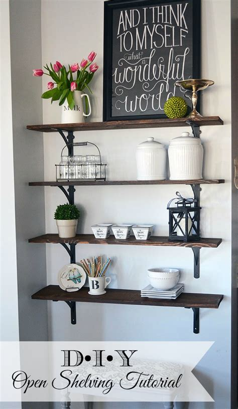 open wall shelves how to build open stained shelves 11 magnolia