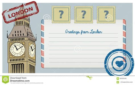 printable london postcards scrapbook postcard from london with sts illustration