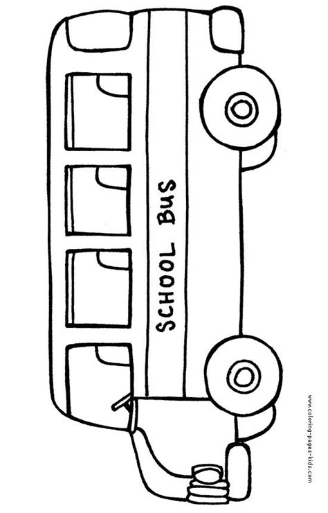 bus color page transportation coloring pages color