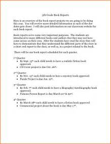 A 5th Grade Book Report by 5th Grade Book Report Sales Report Template
