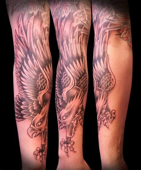 eagle arm tattoos eagle images designs