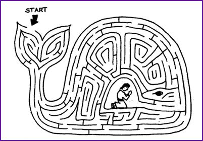 free printable coloring page of jonah and the whale best photos of jonah and the whale maze jonah and the