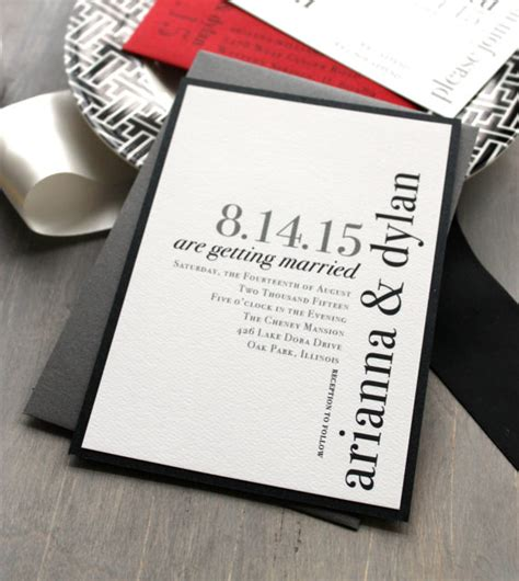 Unique Contemporary Wedding Invitations by 20 Contemporary Wedding Invitation Exles Bonfx