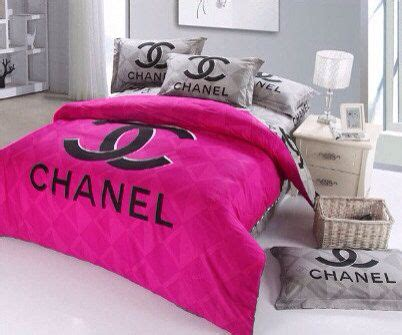 cc logo inspired queen size cotton black  lovefromlaurenemily   ideas  chanel