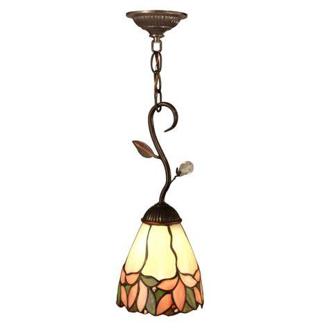 Springdale Lighting Crystal Leaf 1 Light Antique Bronze Hanging Mini Pendant Lights