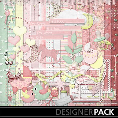 Digital Scrapbooking Wiki Launches 3 by Digital Scrapbooking Kits Sweet Baby Babies