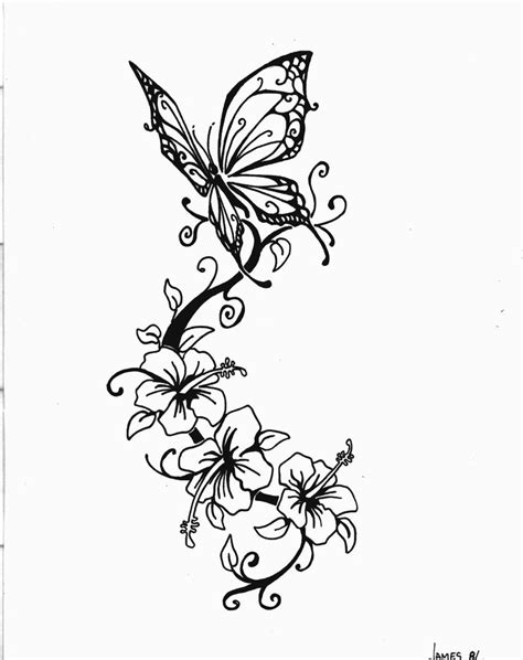 flower with butterfly tattoo designs flower tattoos designs ideas and meaning tattoos for you