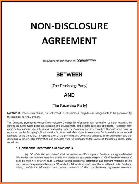 generic nda template 7 generic non disclosure agreement template purchase