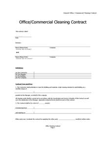 Free Cleaning Contract Template by Cleaning Contract Template 3 Free Templates In Pdf Word