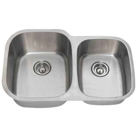 Mr Direct Kitchen Sinks Reviews Mr Direct Undermount Stainless Steel 32 In Bowl Kitchen Sink 503l 16 The Home Depot
