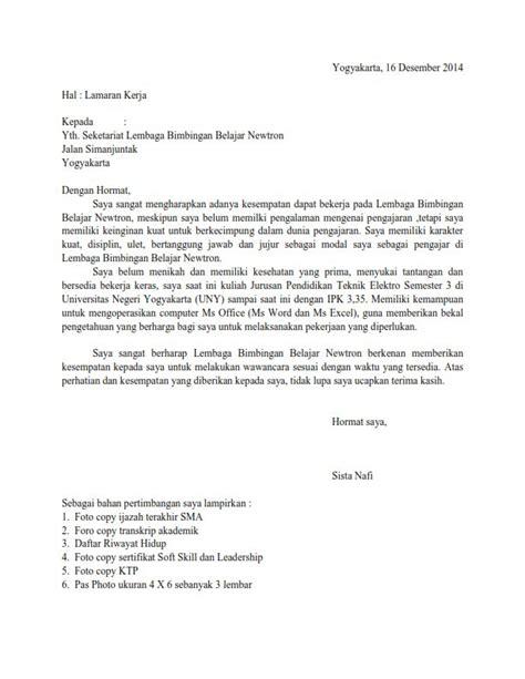 contoh surat lamaran kerja bimbel primagama contoh cv guru bimbel contoh surat lamaran kerja di