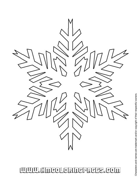 snowflake patterns coloring pages free coloring pages of snowflake templates