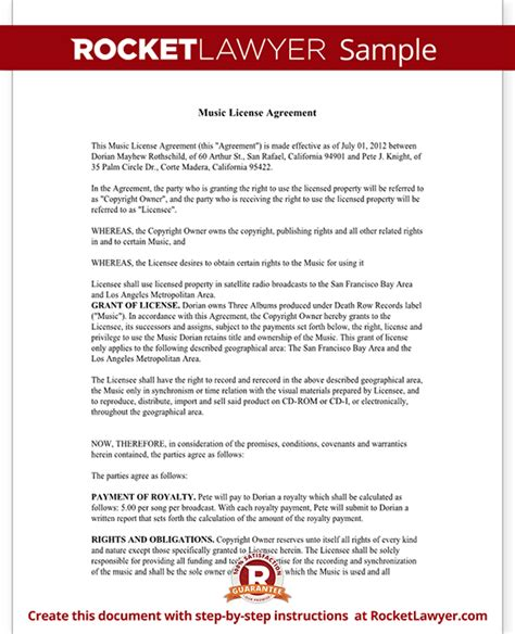 music license agreement free music license agreement