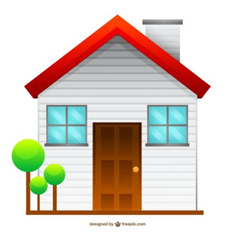 isolated house isolated house drawing free vector 123freevectors