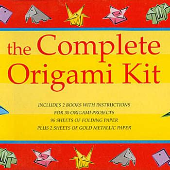 The Complete Book Of Origami - the complete origami kit arts crafts do it yourself
