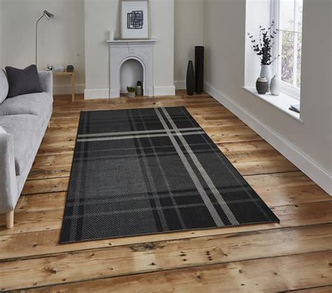 flat weave polypropylene rugs tartan check rug flat weave polypropylene durable indoor or outdoor mat ebay