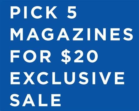 Cbs 6 Great Grocery Giveaway - labor day magazine subscription sale 5 magazines for 20 send as gifts
