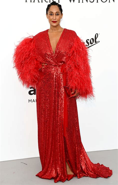 tracee ellis ross pink dress tracee ellis ross wears a diana ross inspired red dress to