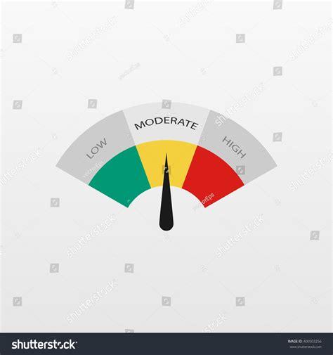 best chart low moderate high better chart best stock vector 400503256