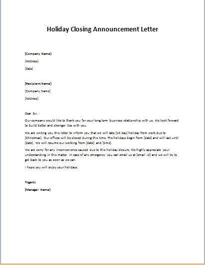 business letter closing remarks sle closing letter sle 28 images business closed letter 28