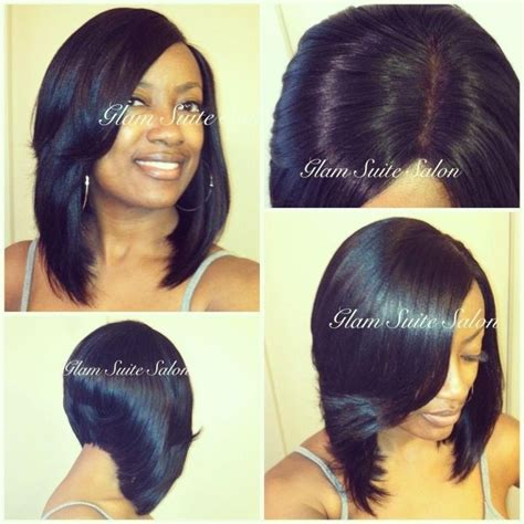 short black sew ins layered bob hairstyles pinterest lace closure bobs