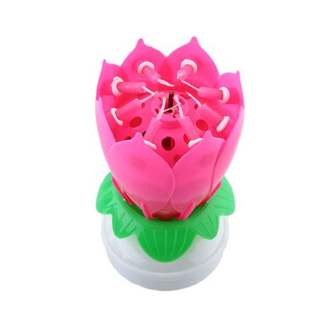lotus flower birthday candle musical lotus rotating flower birthday candle musical