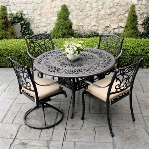 furniture formal wrought iron patio furniture stock photo