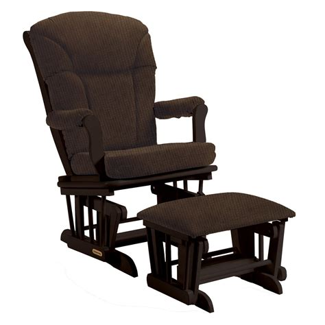 Rocker Glider Ottoman Shermag Glider And Ottoman Black Chocolate Gliders Nursery Rockers At Hayneedle