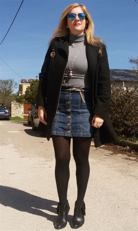 5 1 ways to wear a button front skirt all year around