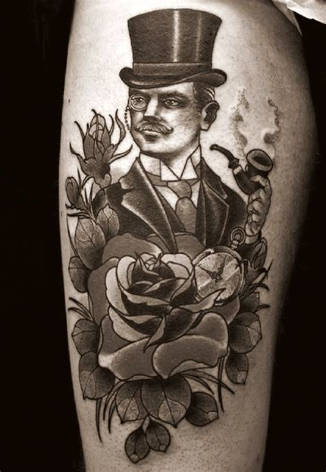 gentlemans tattoo retro gentleman traditional tattoos