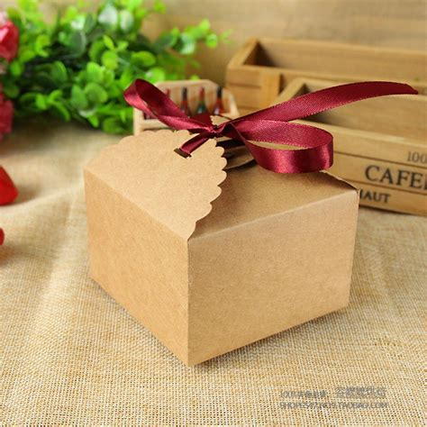 Handmade Chocolates Packaging - 1pc small square paper craft box chocolate boxes packaging
