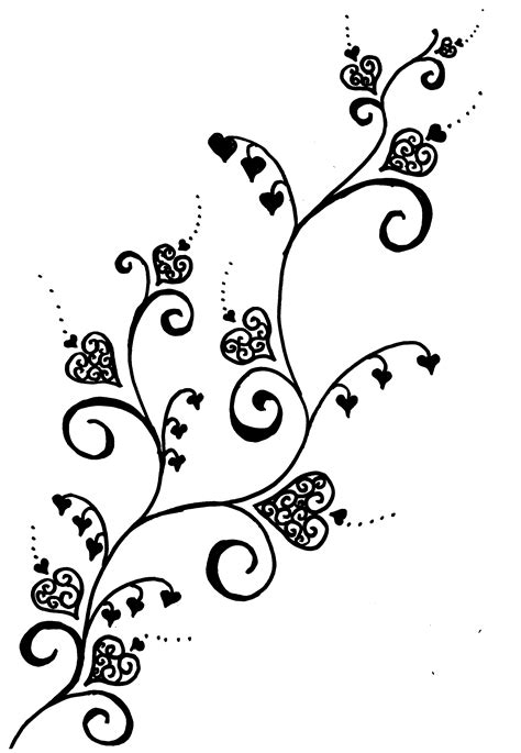 Heart Vine Pattern | vine tattoos designs ideas and meaning tattoos for you