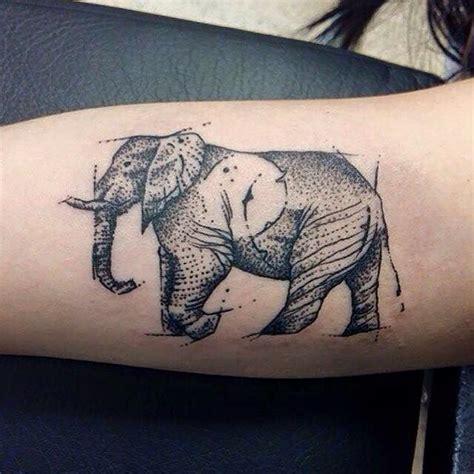 dotwork elephant tattoo geometric dotwork elephant tattoo on forearm