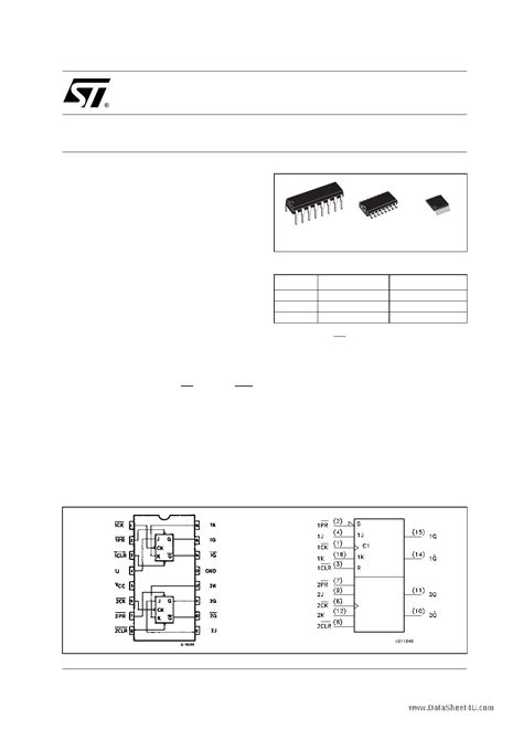 datasheet 74hc76 dual j k flip flop page pdf m74hc76