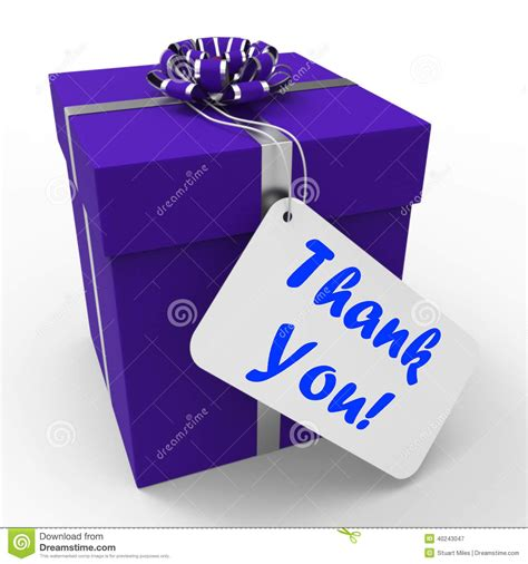 gift meaning thank you gift means grateful and appreciative stock