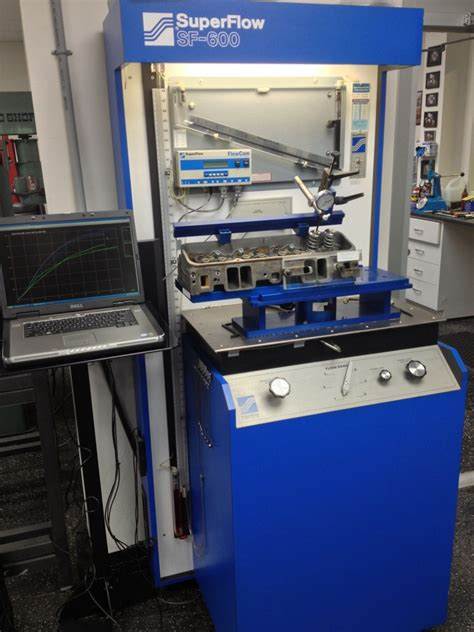 superflow flow bench superflow 600 with flowcom andperformance trend software