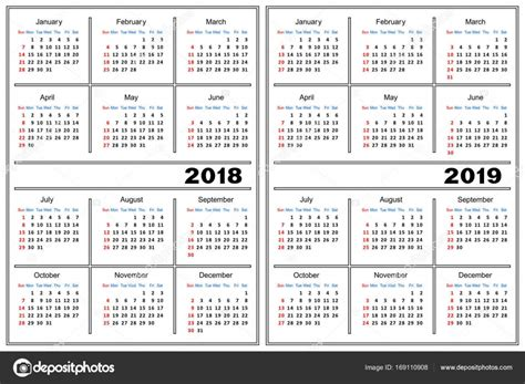 Free Photo Calendar Template 2018