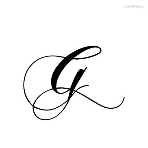 Tattoo Fonts Letter G | letter g fonts for tattoos letter g stencil tattoo