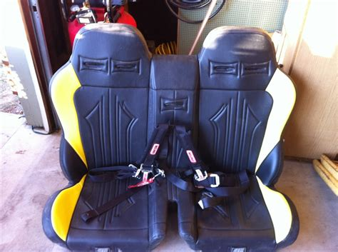 rzr bench seat for sale twisted stitch bench seat with center harness polaris