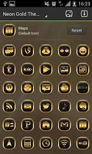gold icon themes neon gold theme go launcher android apps on google play