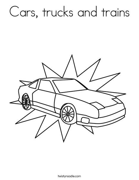 coloring pages trucks and trains cars trucks and trains coloring page twisty noodle
