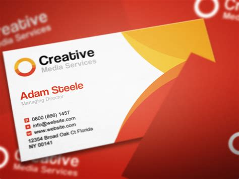 Free Psd Creative Media Business Cards In 2 Colors Business Card Website Template Free