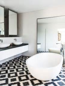 Black White Bathrooms Ideas Black And White Bathroom Wall Tile Designs