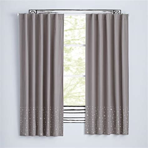 deep curtain rods deep space curtains the land of nod