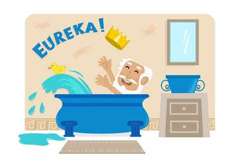 archimedes bathtub story eureka how archimedes discovered the most important