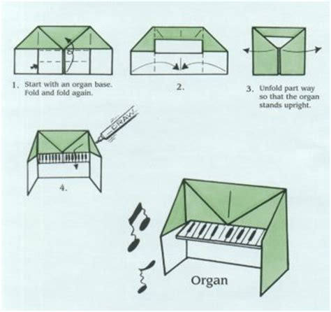 How To Make Origami Piano - ellasparty