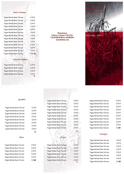 Word Vorlage Karte Getr 228 Nkekarte Vorlage Zum Ausdrucken Runterladen