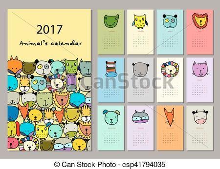 funny bees calendar 2017 design stock vector image 81720022 vectors of funny animals calendar 2017 design vector
