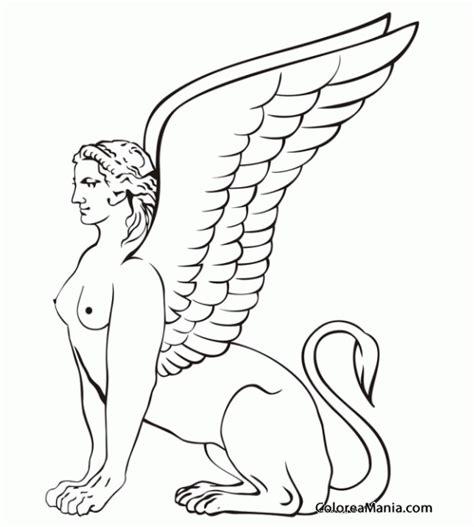 imagenes de esfinges egipcias para dibujar colorear esfinge sentada animales fantsticos dibujo