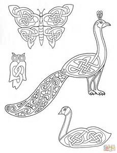 designs to color for ausmalbild tierdarstellungen mit keltischen mustern